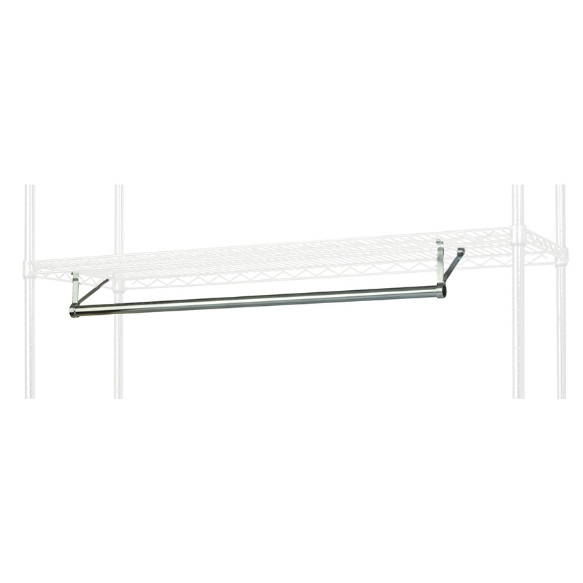 "Focus FHR481821 48"" Garment Hanger Rod w/ Brackets Fits 18 x 21"" Shelf, NSF"