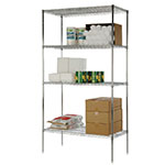 Focus FK183674CH Chrome Wire Shelving Unit w/ (4) Levels, 18x36x74""