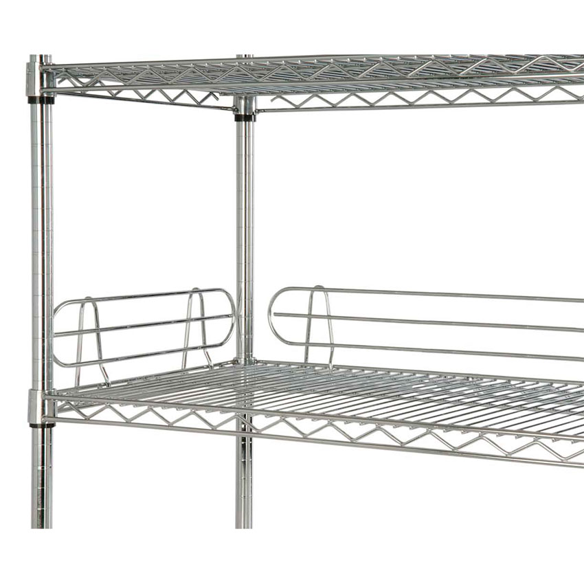 Focus Foodservice FL214C Shelf Ledges Chrome 21 in W x 4 in H Restaurant Supply