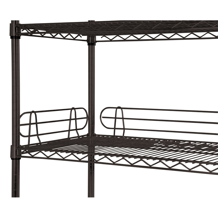 "Focus FL244BK Shelf Ledge - 24"" x 4"", Black"