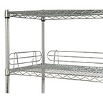 "Focus FL244C Shelf Ledges, Chrome, 24""W x 4""H"