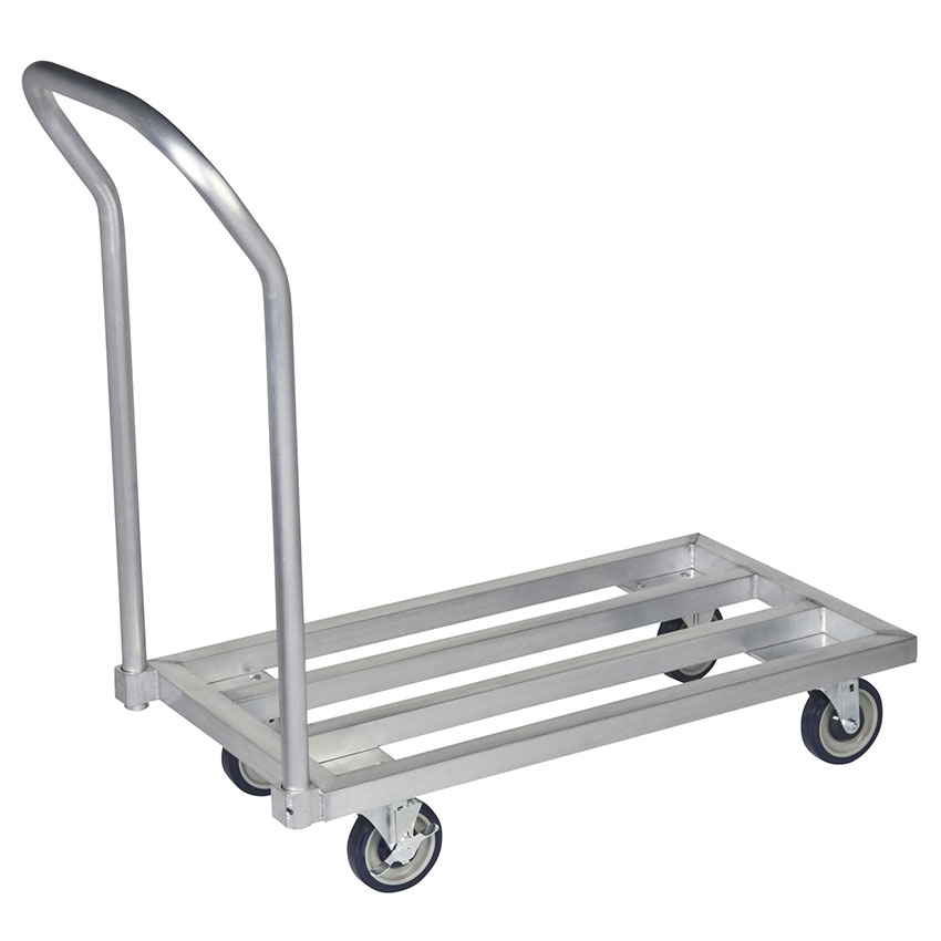 "Focus FMADR4824 48"" Welded Aluminum Mobile Dunnage Rack, 24"" Deep"
