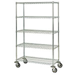 Focus FMK1848695CH Utility Cart w/ 5-Shelves & 1,200-lb Capacity, 18 x 48 x 69-in, Chromate