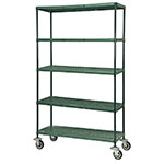 Focus FMPS1848695 Epoxy Coated Wire Shelving Unit w/ (5) Levels, 18x48x63""