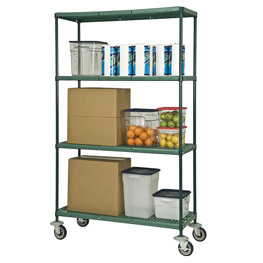 Focus FMPS2448694 Epoxy Coated Wire Shelving Unit w/ (4) Levels, 24x48x63""