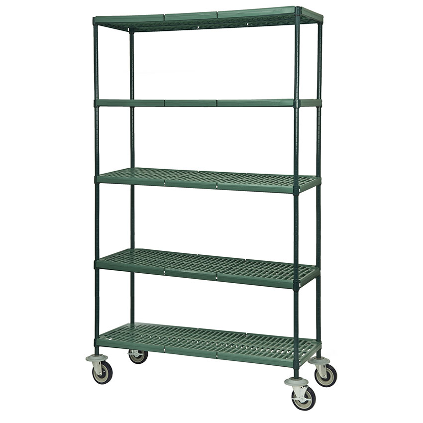 Focus FMPS2448695 Epoxy Coated Wire Shelving Unit w/ (5) Levels, 48x24x63""