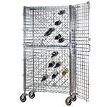 Focus FMWR1836CH Mobile Chromate Security Wine Rack, 82 Bottle Capacity