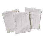 Focus 1813999FS99 All White Cotton Flour Sack Towels, 32 x 38 in