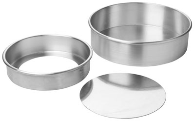 Focus 90ACC103 Rolled Edge Cheesecake Pan, Removable Bottom, Aluminum, 10 x 3 in