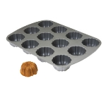 Focus 952837 Fluted Non Stick Muffin Pan For (12) 2-5/8 Muffins, Cast Aluminum