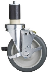 "Focus FECST5B 5"" Casters With Brake And Bumpers for Stainless Work Tables"