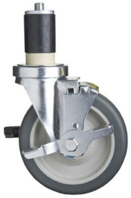 Focus FECST5B 5 in Casters With Brake And Bumpers For Stainless Work Tables