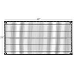 Focus FF1848BK Epoxy Coated Wire Shelf - 48x18""