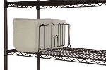 Focus FSD24BK Black Epoxy Shelf Divider, 24 x 8 in