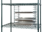 Focus FWTS12GN Tray Slide Holds 12-Trays, Mounts to Shelving,  Green Epoxy