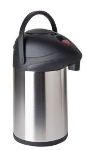 Focus KPW9330BT 3-L Push Button Airpot w/ Brew Thru, Stainless Vacuum Insulated
