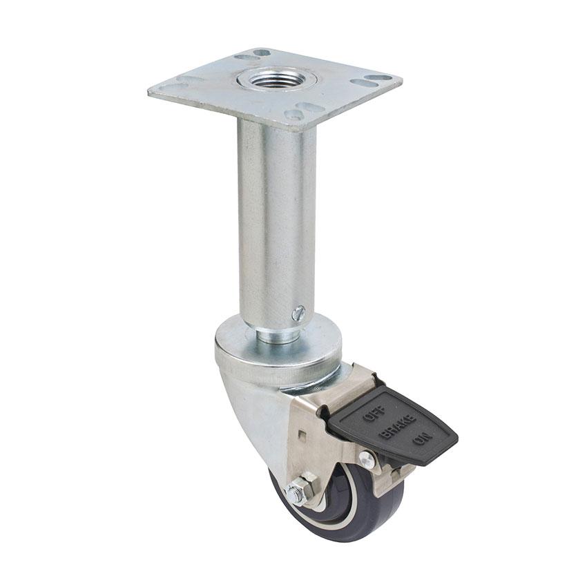"Focus FPCF353 Fryer Caster Set w/ Brake, 200-lb Per Wheel, 3"" Diameter"