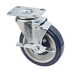 Focus FPCST2X35 Universal Plate Caster w/ Brake, 250-lb Per Caster, 5-in Diameter