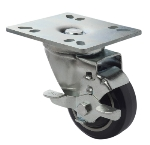 Focus FPCST3E Universal Plate Caster w/ Brake, 250-lb Per Caster, 4-in Diameter