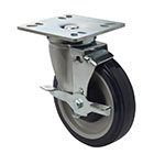 Focus FPCST5 Universal Plate Casters w/ Brake, 5 in, Set of 4