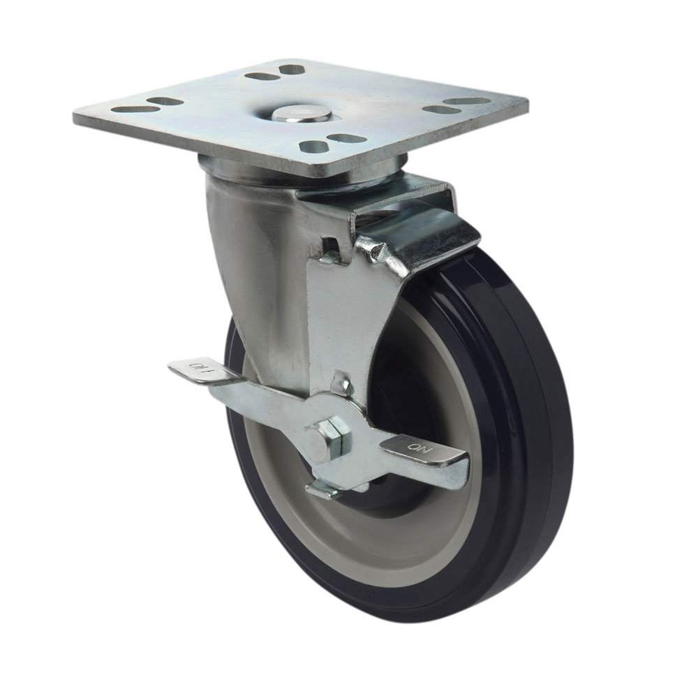 """Focus FPCST5 5"""" Universal Plate Casters w/ Brake"""