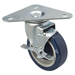 Focus FPCTR5 Heavy Duty Triangle Plate Caster Set  w/ 500-lb Capacity Per Wheel, 5-in