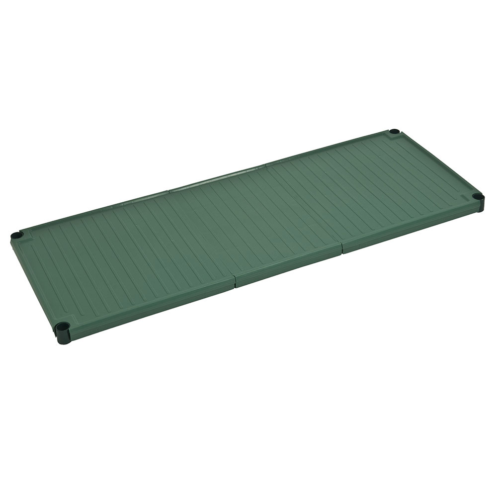 "Focus FPS1842SOGN SaniGard Epoxy Coated Solid Shelf, 18 x 42"", Green"