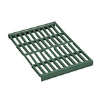 """Focus FPS2112VPMGN FPS Plus Replacement Middle Panel, Vented, SaniGard Green, 21 x 12"""""""