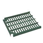 Focus FPS2412VPEGN FPS Plus Replacement End Panel, Vented, SaniGard Green, 24 x 12""