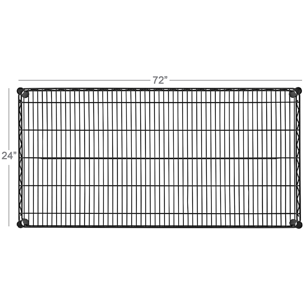 """Focus FPS2472VNGN Epoxy Coated Wire Shelf - 24x72"""""""