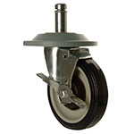 Focus FSCAST5B Caster, Heavy Duty Swivel Stem, 5 in, Brake & Bumper