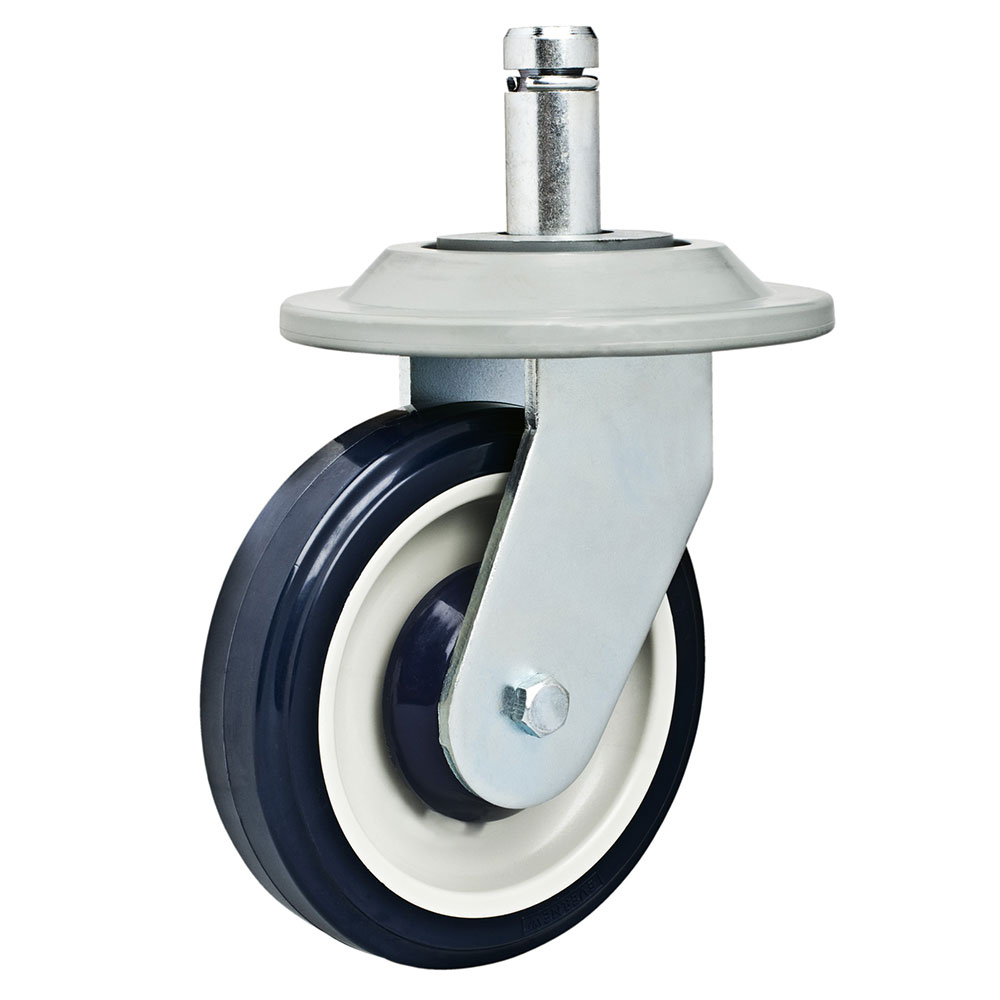 Focus FSCAST5RG 5-in Heavy Duty Stem Caster, Rigid Polyurethane, NSF