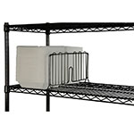 "Focus FSD24BK Shelf Divider - 24"" x 8"", Black"