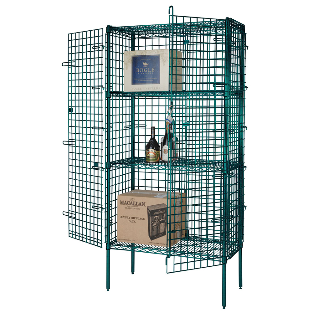Focus FSEC244863GN Green Epoxy Security Cage Kit, 24 x 48 x 63""