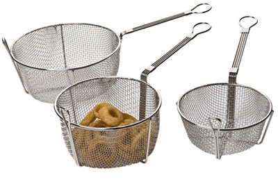 Focus FSFB775 3-3/4 in Deep Fryer Basket With Hook Stainless Restaurant Supply
