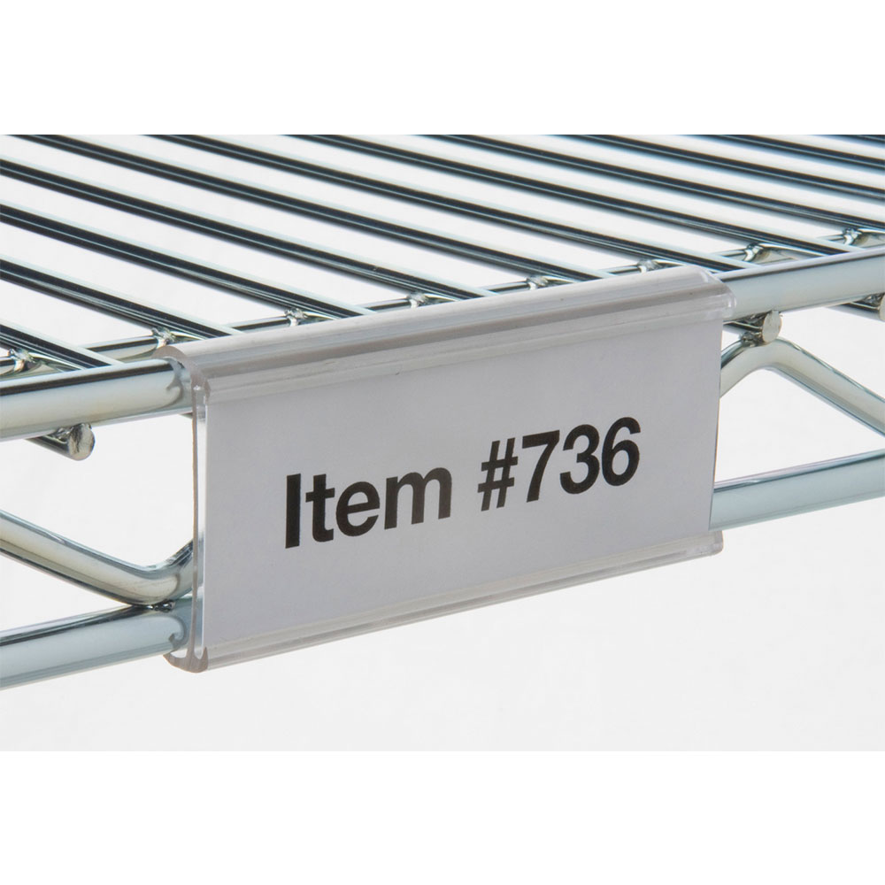 "Focus FSHELF6CL 6"" Shelf Label, Clear"