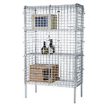 Focus FSSEC18604 Security Cage Complete Stationary Kit w/ 4-Shelves, 18 x 60 x 63-in, Chromate