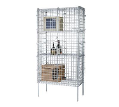 "Focus FSSEC1860 60"" Chrome Security Cage Kit, 18""Deep, 74"" H"