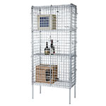 "Focus FSSEC2436 36"" Chrome Security Cage Kit, 24""Deep, 74"" H"
