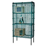 "Focus FSSEC2436GN Security Cage Kit, Green, 74"" Posts, Leveling Feet, 24""D x 36""L"