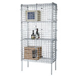 Focus FSSEC2448 48-in Chrome Security Cage Kit, 24 in Deep, 74-in H