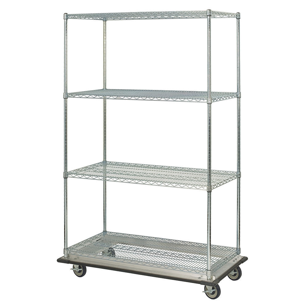Focus FST244863CH Chrome Wire Shelving Unit w/ (4) Levels, 24x48x63""