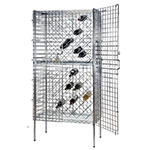 Focus FSWR1836CH Chromate Security Wine Rack, Stationary, 82 Bottle Capacity