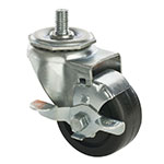 Focus FTC34105HD Threaded Stem Heavy Duty Caster Set w/ Brake, 250-lb Capacity, 5""