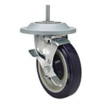 Focus FTCAST5B Caster, Heavy-Duty, Threaded, Swivel, 5 in, Brake & Bumper