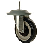 Focus FTCAST5C Caster, Heavy-Duty Threaded, Swivel, 5 in, Bumper