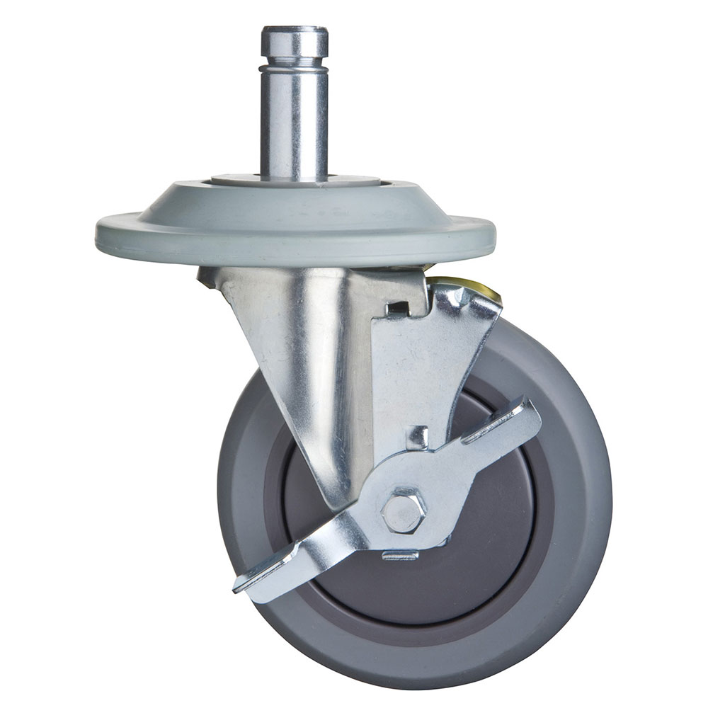 """Focus FTPRCST5B 5"""" Thermoplastic Rubber Caster, Swivel Stem, Brakes And Bumpers"""