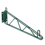 Focus FWB14SG Wall Brackets, Green Epoxy Coated, 14 in, Single