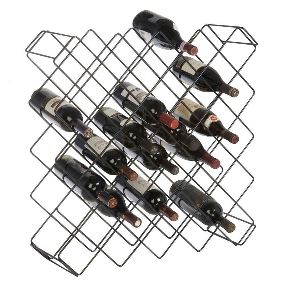 "Focus FWBR45BK 26.5""H Display Commercial Wine Rack Modules w/ (45) Bottle Capacity, Black Epoxy"