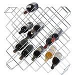 "Focus FWBR45CH 26.5""H Display Commercial Wine Rack Modules w/ (45) Bottle Capacity, Chrome"